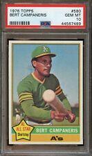 1976 Topps BERT CAMPANERIS Baseball Card #580 PSA 10 Gem Mint