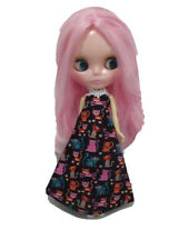Costume outfit handcrafted halter long dress for Blythe Basaak doll 10-12