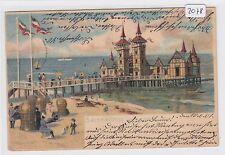 2078, Litho Swinemünde tolle Karte gelaufen 1901 !