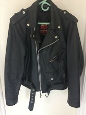 LEATHER MOTOR CYCLE JACKET & CHAPS