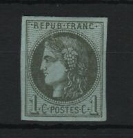 "FRANCE STAMP TIMBRE 39 B "" CERES BORDEAUX 1c OLIVE REPORT 3 "" NEUF xx TTB T924"