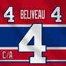Jean Beliveau Gros Bill NHL Montreal Canadiens Adidas Jersey Pro Lettering Kit
