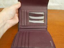 COACH SIGNATURE WALLET LEATHER AND CLOTH PURPLE