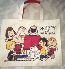 Vintage Snoopy and His Friends Peanuts Comic Strip Schultz Bag Tote Lucy Charlie