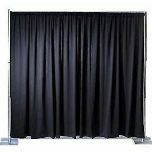 Black Molton Stage Drape Theatre or Club 6m X 2.9m LAST ONE!