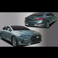 Chrome Front Fog lamp+rear reflector Cover Molding for Hyundai Elantra AD 2017+
