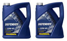 2 X 5 L Mannol Defender 10w40 Semi Synthetic Engine Oil 10 Litres