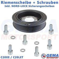 Riemenscheibe Opel C20XE C20LET + Schrauben + NORD-LOCK Sicherungsscheiben