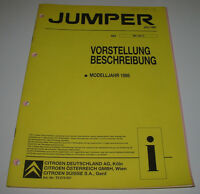 Werkstatthandbuch Citroen Jumper Beschreibung Technische Daten Juni 1998!