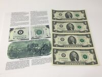 2013 Series Uncut sheet Four $2 Bills (Dallas Texas)