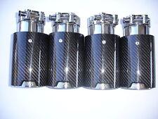 BMW M1 M2 M3 M4 M5 M6 Carbon Fiber Exhaust tip's (4) 1 2 3 4 5 6 7 8 Series BMW