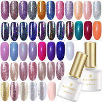 56Colors Glitter UV Gel Nail Polish Rose Gold Gel Nails Soak Off 6ml Born Pretty