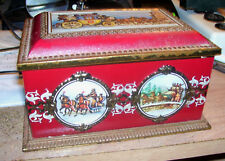 TIN BOX 'KLANN QUALITY' MADE IN GERMANY HORSES, CARRIAGES & CASTLE  GREAT SHAPE
