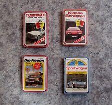 Quartett Auto Sportwagen Autos Mercedes Porsche Ferrari Spielkarten ASS Schmid @