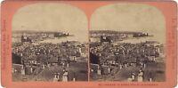 Panorama Da Geneve Suisse Foto Lamy Stereo Vintage Albumina Ca 1865