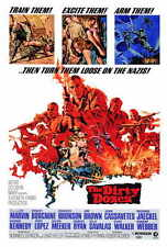 THE DIRTY DOZEN Movie POSTER 27x40 Lee Marvin Ernest Borgnine Charles Bronson