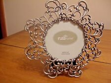 """Round """"russ home""""  tabletop style frame - Pewter Finish - 8"""" Diameter"""