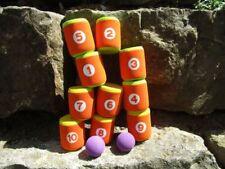 Dosenwurfspiel ECO Dosenwerfen 2 Bälle 10 Dosen Spielzueg Tragetasche 170195