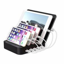 5 Ports USB Charging Station For Apple & Android Universal Multi Dock Charger