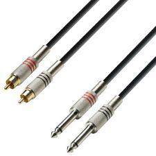 Adam Hall K3tpc0100 cable profesional RCA a Jack 1m