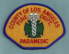LOS ANGELES COUNTY CALIFORNIA FIRE DEPARTMENT PARAMEDIC PATCH