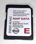 NISSAN SD MAP Europa SAT NAV CONNECT CARD LCN 25920 4EA0C