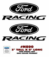 """N890 FORD RACING - DECAL SET - 3"""" Tall - TWO DECALS"""