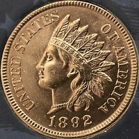 1892 INDIAN HEAD PENNY 4  DIAMONDS  ***NICE  PENNY***Cleaned