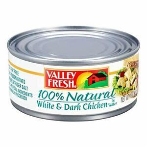 VALLEY FRESH, Chuck Chicken in Water, White & Dark, 10 Ounce
