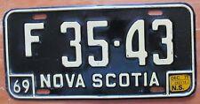 Nova Scotia 1971 FARM TRACTOR License Plate NICE QUALITY # F 35-43