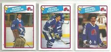 1988-89 O-PEE-CHEE Hockey Quebec Nordiques 13-card Team Set Peter Stastny