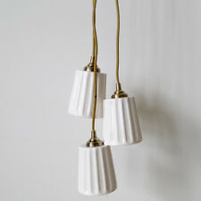Ceiling Pendant 3 Light White Shades Traditional Style Light Clearance Litecraft