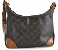 Authentic Louis Vuitton Monogram Boulogne 30 Shoulder Bag M52165 LV B7523