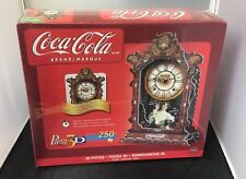 Coca-Cola Real Working Clock, 250 Piece 3D Jigsaw Puzzle Made by Wrebbit Puzz-3D