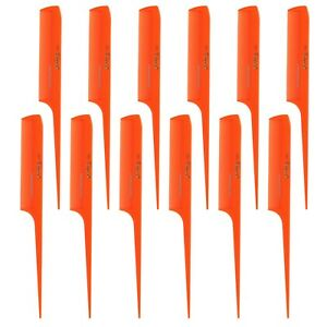 Krest Combs 8-1/2 In Rat Tail Combs Extra Fine Tooth. Rattail Combs 22 Color 1Dz