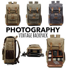 Premium Vintage Photography Backpack Waterproof Outdoor Canvas SLR Camera Bag ZX
