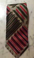 Mulberry Thai Silks Mens Neck Tie Necktie Abstract Blue Green Pink Gray Yellow