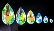 Lots 12Pcs 28mm AB color Teardrop Crystal Glass Beads Pendants N24