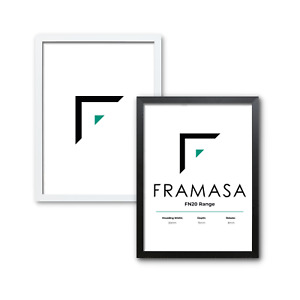 Thin Contemporary 20mm Photo Picture Frames Black White Handmade A2 A3 A4 A5