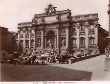 Italie, Rome, Roma, fontana di Trevi (Niccola Salvi)  Vintage albumen print, T
