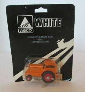 Scale Models White AGCO Orange Tractor 1/64 Minnesota State Fair 1992