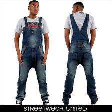 Streetwear Premium Tiefer Schritt Karotte Arc Overall Latzhose Jeans Anzug-hüfte