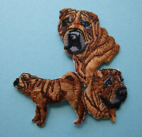 IRON-ON EMBROIDERED PATCH - SHAR PEI - DOG