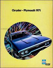 MINT 1971 Plymouth Sales Catalog GTX Satellite Sebring Road Runner Roadrunner
