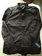 H&M Black button down long sleeve shirt Size Medium