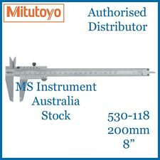 "New Genuine Mitutoyo 530-118 Standard Vernier Caliper 200mm 8"" Australia Stock"