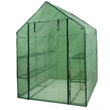 8 Shelves Walk In Door Outdoor 3 Tiers Green House for Planter Portable Mini