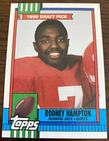 1990 Topps Football Rodney Hampton Draft Pick #48 Rookie RC New York Giants
