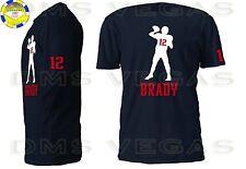 New England Patriots Tom Brady Jersey Tee Shirt Men Size S-5XL Shadow