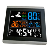 Large LCD Color Digital Table Alarm Clock with Temperature Humidity Display